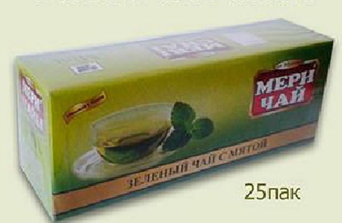 Купить Мери Чай зеленый Мята 25 пакетиков оптом
