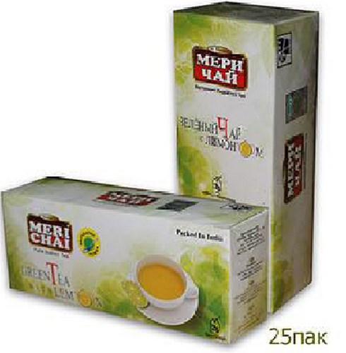 Купить Мери Чай зеленый Лимон 25 пакетиков оптом