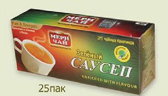 Купить Мери Чай зеленый Саусеп 25 пакетиков оптом