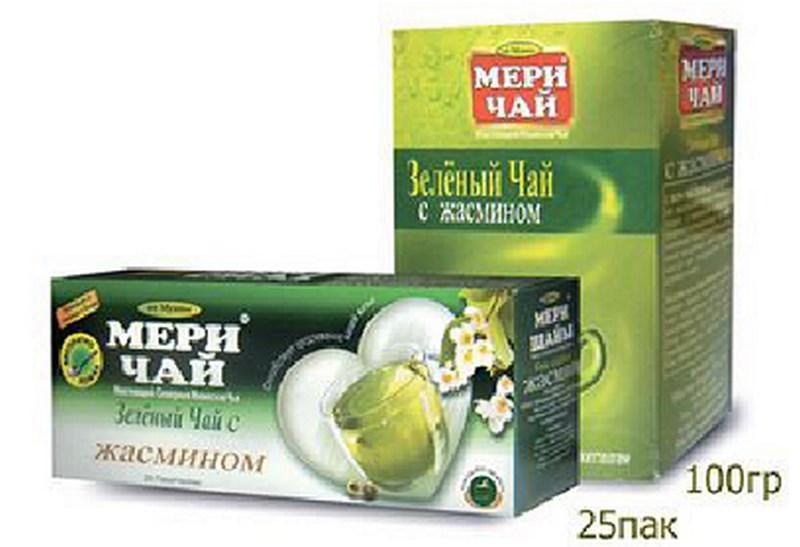 Мери Чай зеленый Жасмин 25 пакетиков