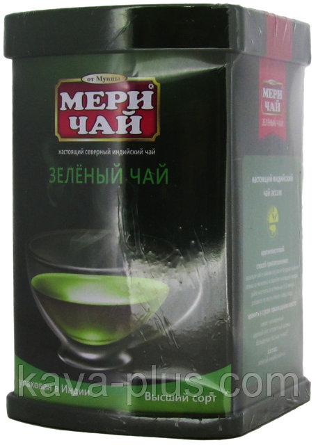 Мери Чай зеленый в железной банке 100 грамм упакован в Индии