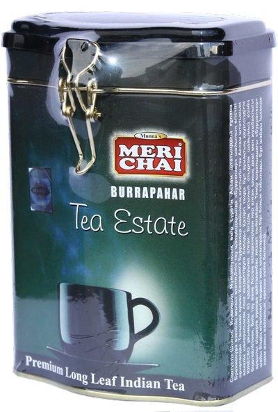 Мери Чай черный Буррапахар в железной банке 200 грамм упакован в Индии