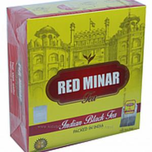 Мери Чай черный упакован в Индии Ред Минар 100 пакетиков