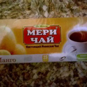 Мери Чай черный Манго 25 пакетиков упакован в Индии