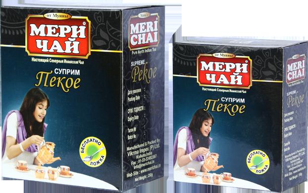 Мери Чай Пекое 100 грамм без ложки упакован в Украине